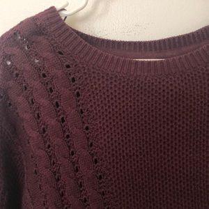 La Hearts Sweaters - NWOT: maroon cropped sweater